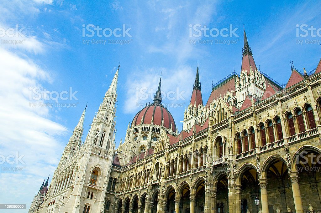 Budapest Parliament Building 2 royalty-free stock photo