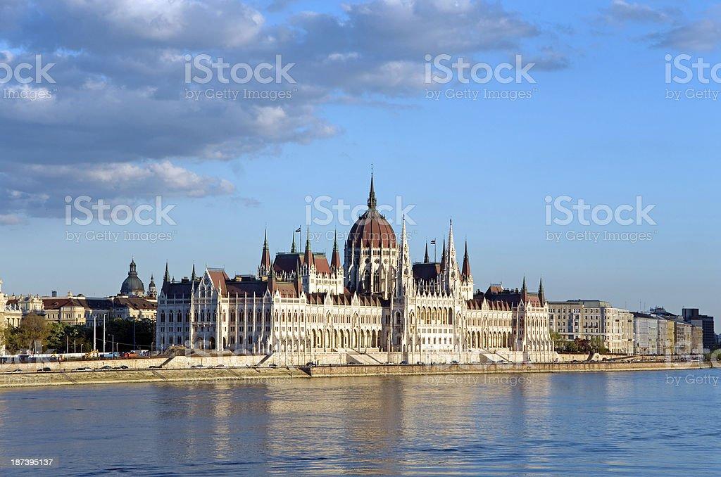 budapest parliament danube stock photo