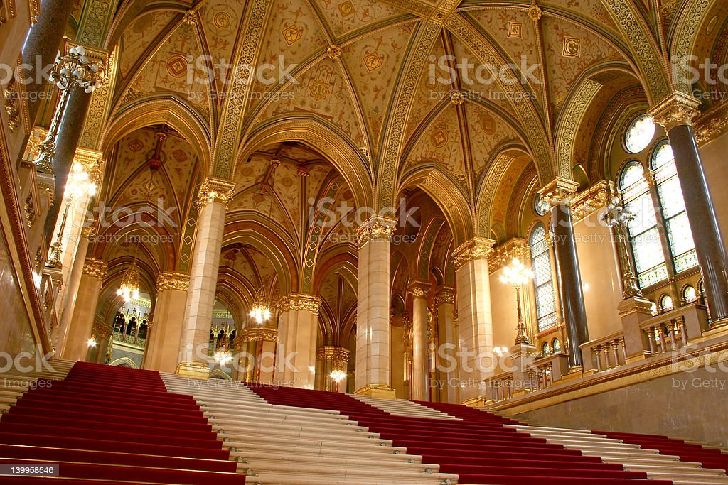 Budapest, parliament royalty-free stock photo