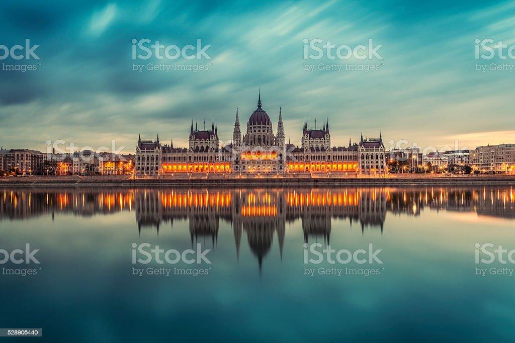 Budapest Parliament stock photo