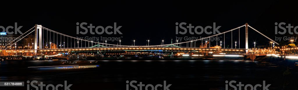 Budapest River Danube Panorama stock photo