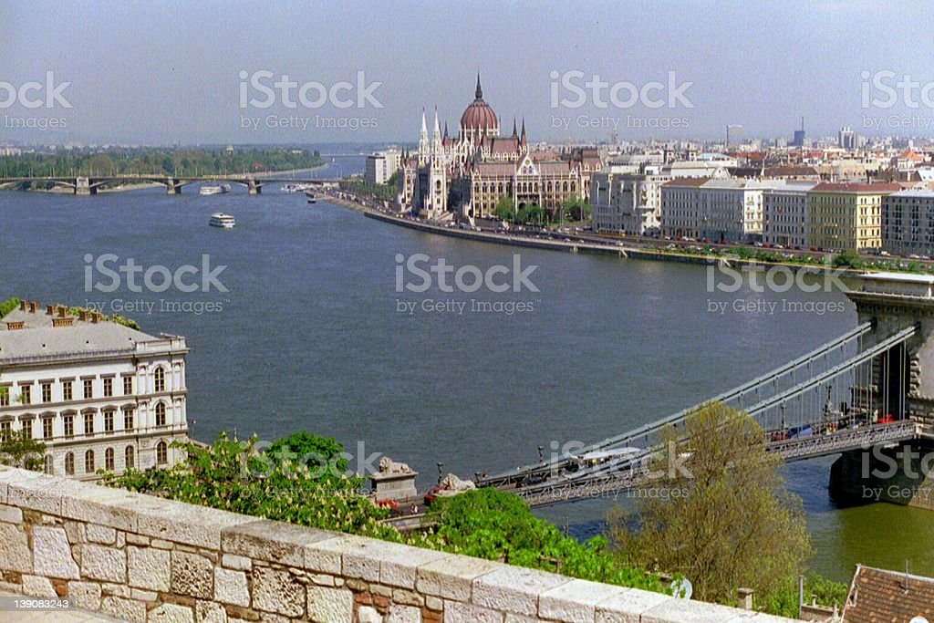 Budapest & River Danube royalty-free stock photo