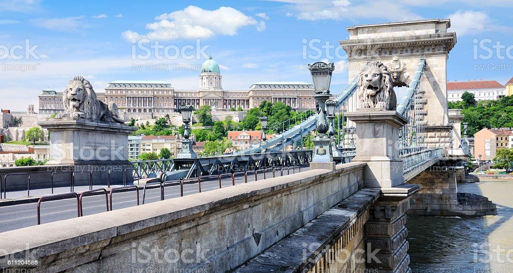 Budapest riverbank stock photo