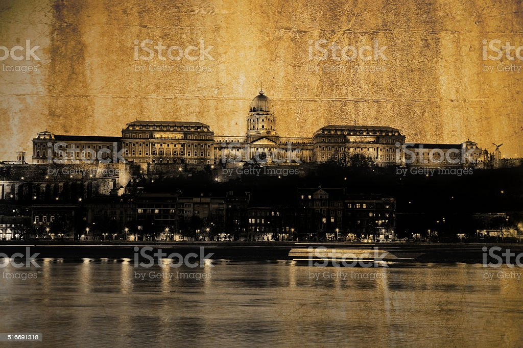 Budapest Royal palace, Hungary stock photo