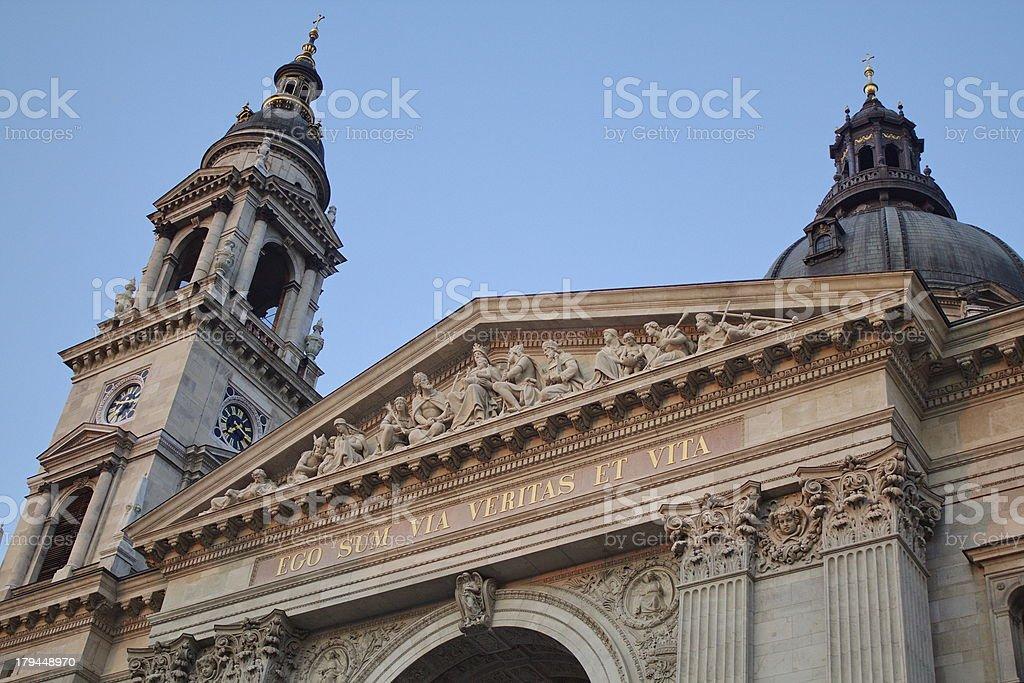 Budapest, Saint Stephen Basilica royalty-free stock photo