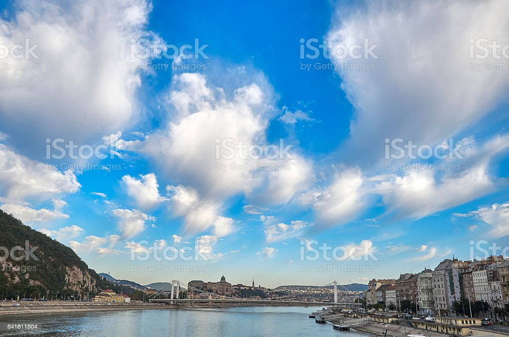 Budapest skyline stock photo