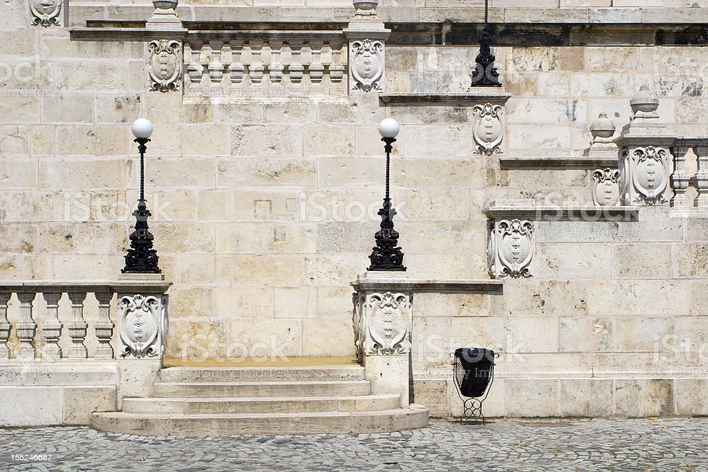 Budapest - stairs by castle royalty-free stock photo