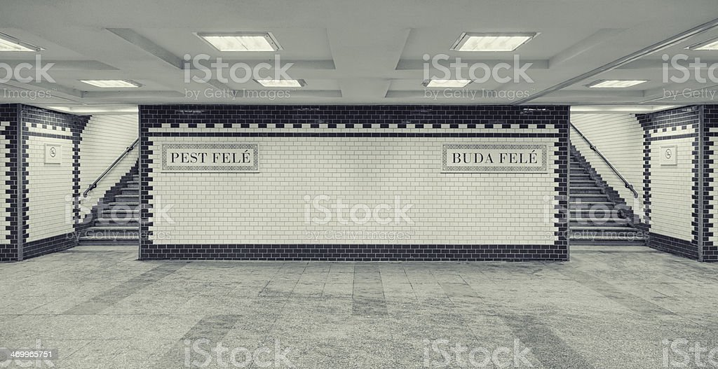 Budapest Subway royalty-free stock photo
