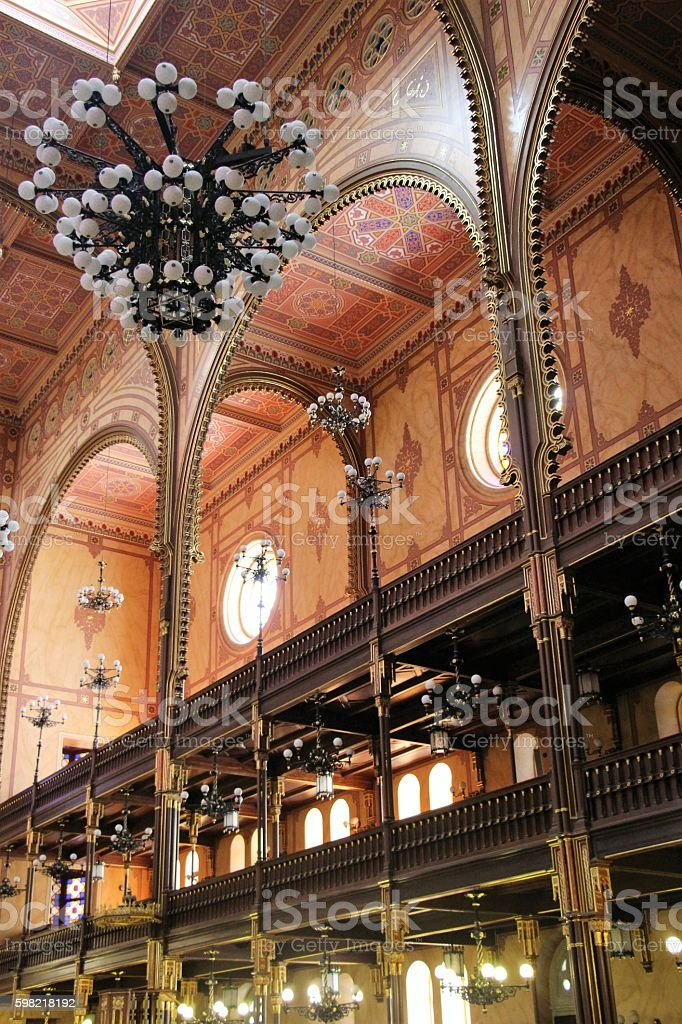budapest - synagogue inside stock photo