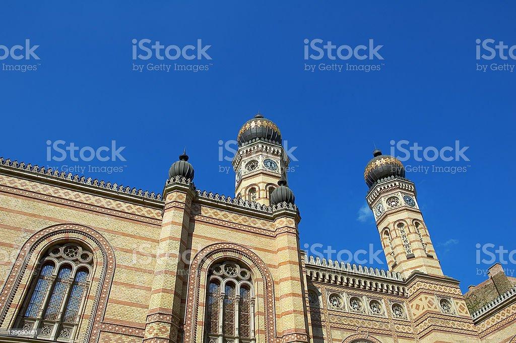 Budapest synagogue royalty-free stock photo