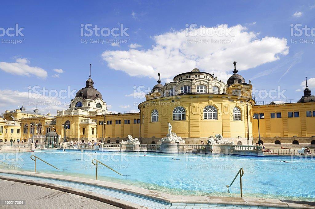 budapest szechenyi bath stock photo