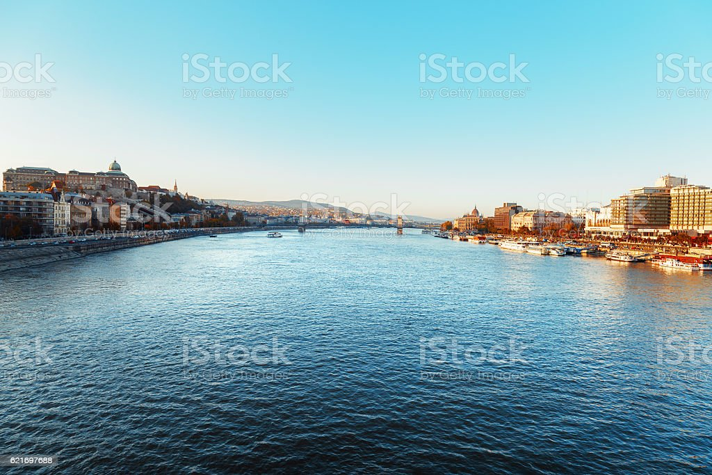 Budapest, the capital of Hungary. stock photo
