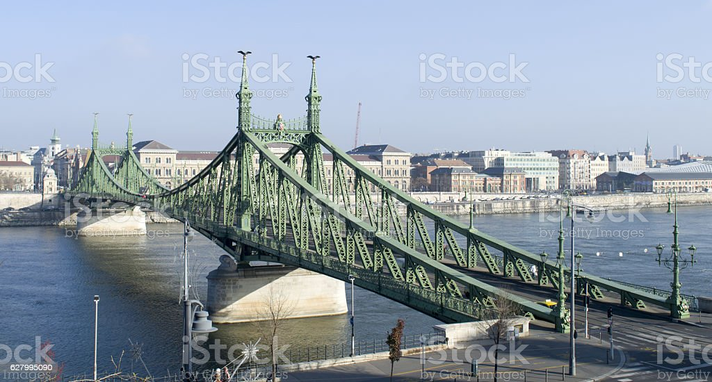 Budapest, the Chain Bridge and the Danube stock photo