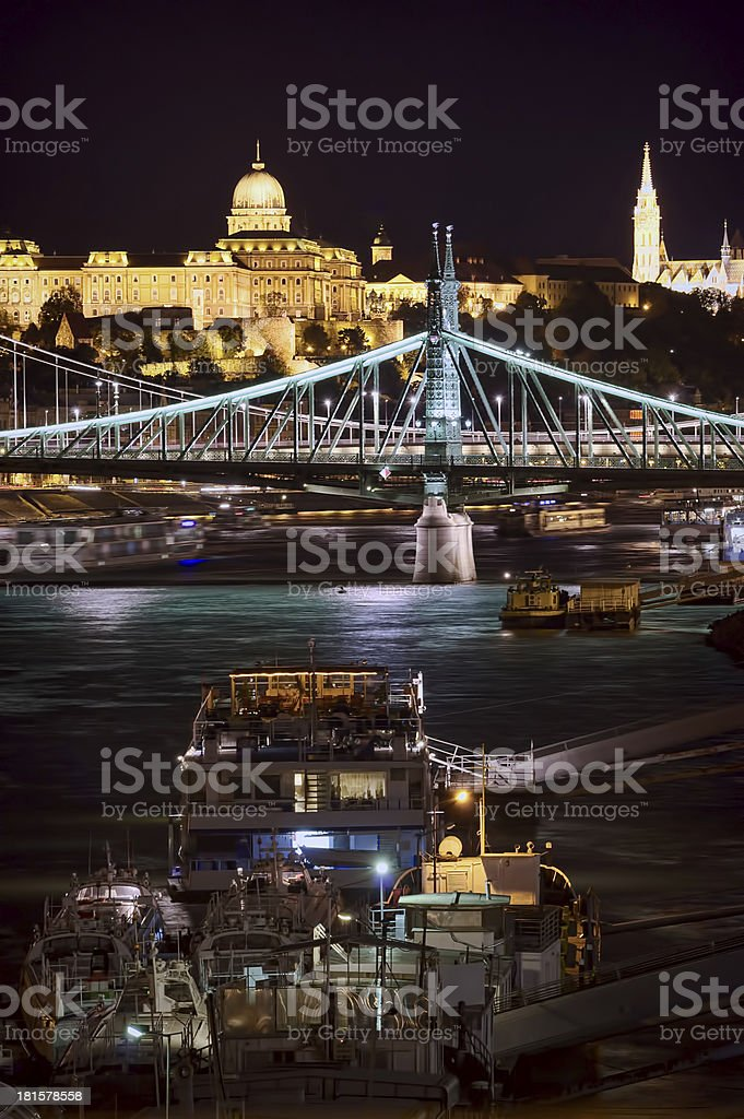 Budapest tourism on Danube river royalty-free stock photo