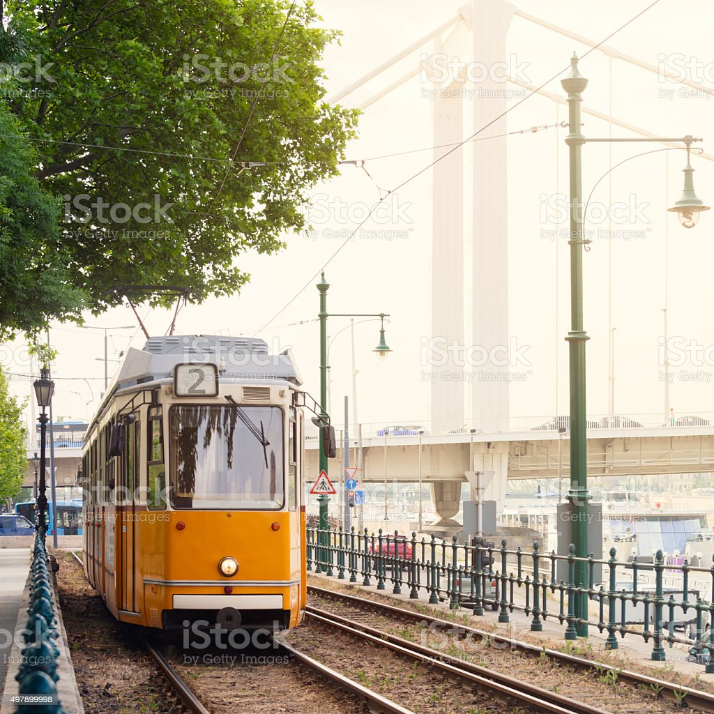 Budapest tram stock photo