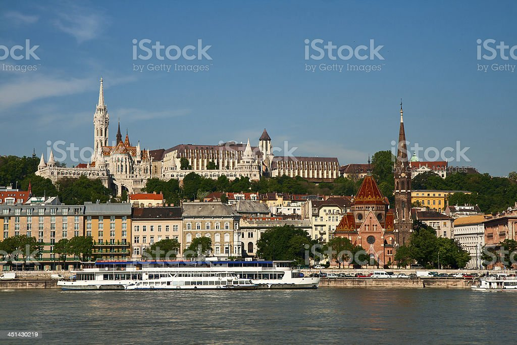 Budapest, view of the Buda castle royalty-free stock photo
