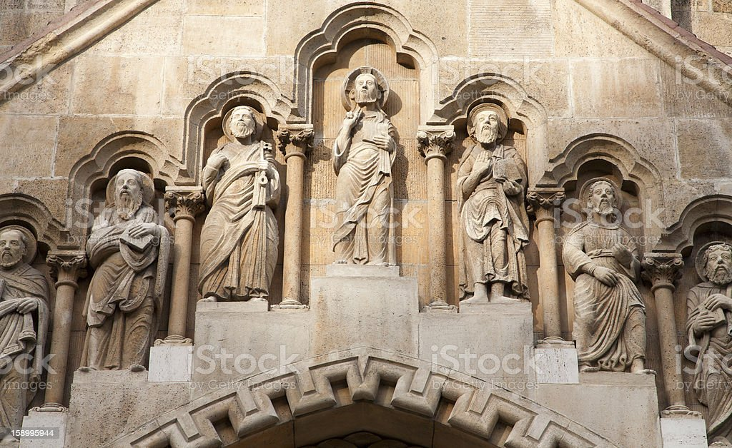 Budapest - West portal from Church of Jak royalty-free stock photo