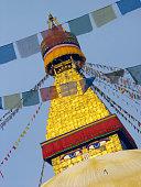 Budda eyes on Swayambunath Stupa, Kathmandu, Nepal.