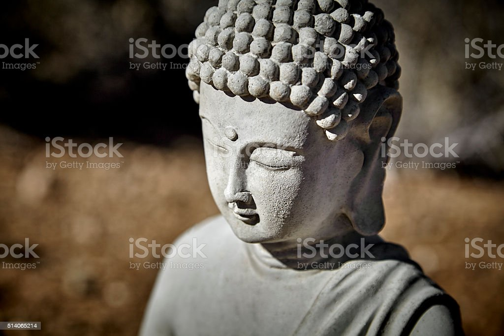 Budda Statue Head stock photo
