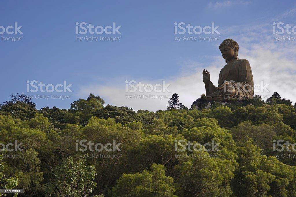 Budda Statue in Hong Kong stock photo