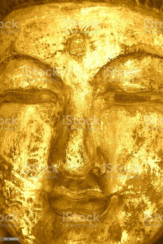 buddah face: meditation and ajna (brow) chakra stock photo