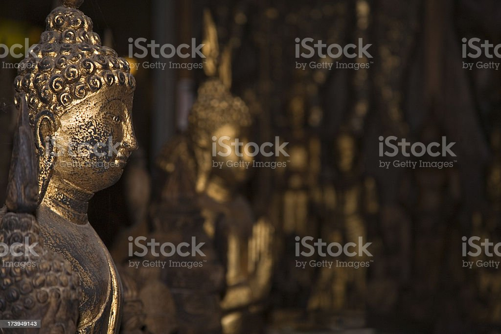 Buddah statue profile stock photo