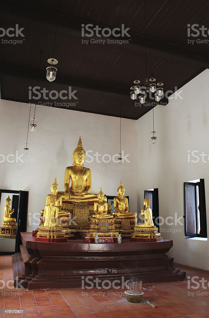 Buddha altar stock photo