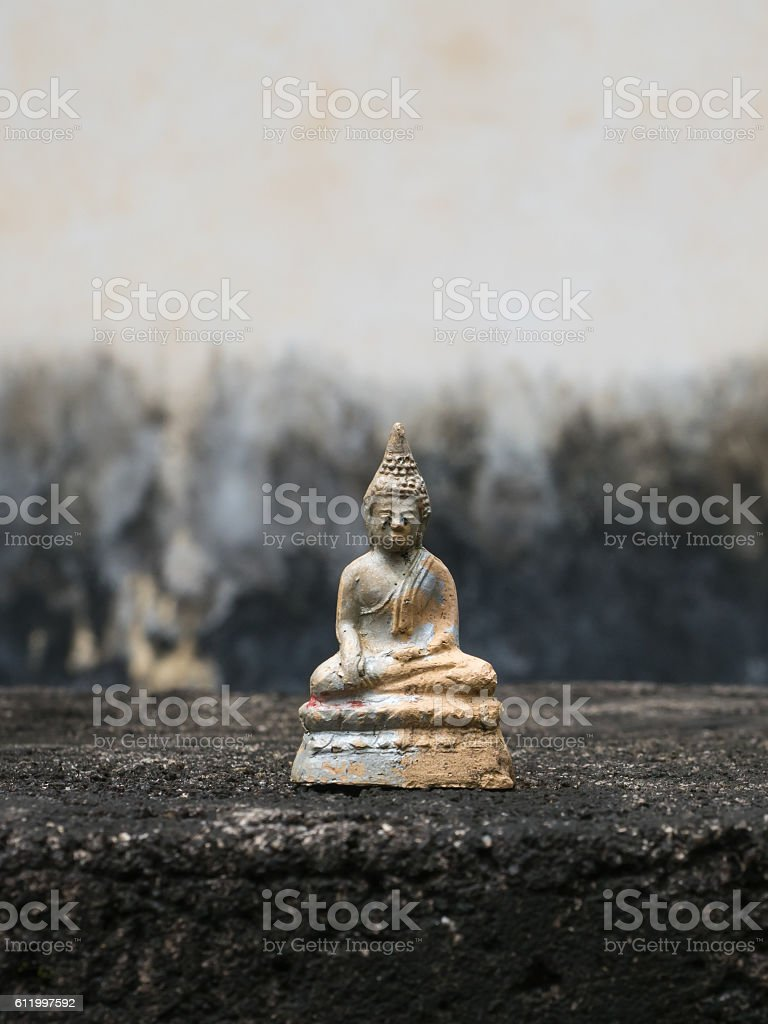 Buddha amulet stock photo