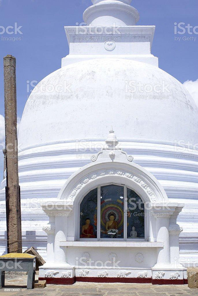 Buddha and dagoba stock photo