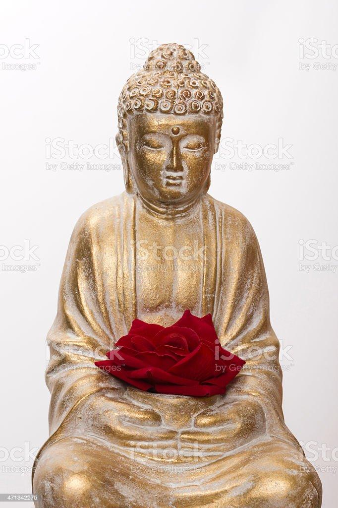 Buddha and flower royalty-free stock photo