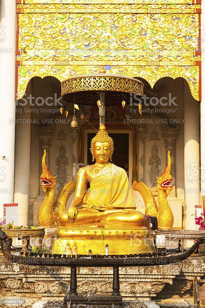 Buddha and god Nakhon royalty-free stock photo