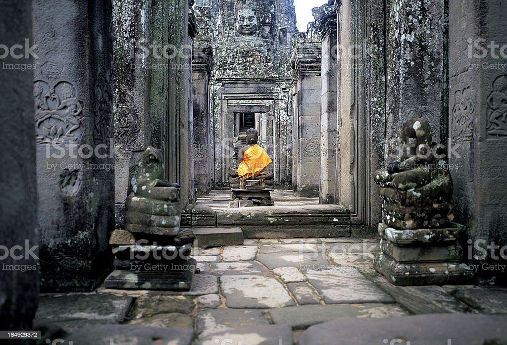 Buddha at Angkor Wat royalty-free stock photo