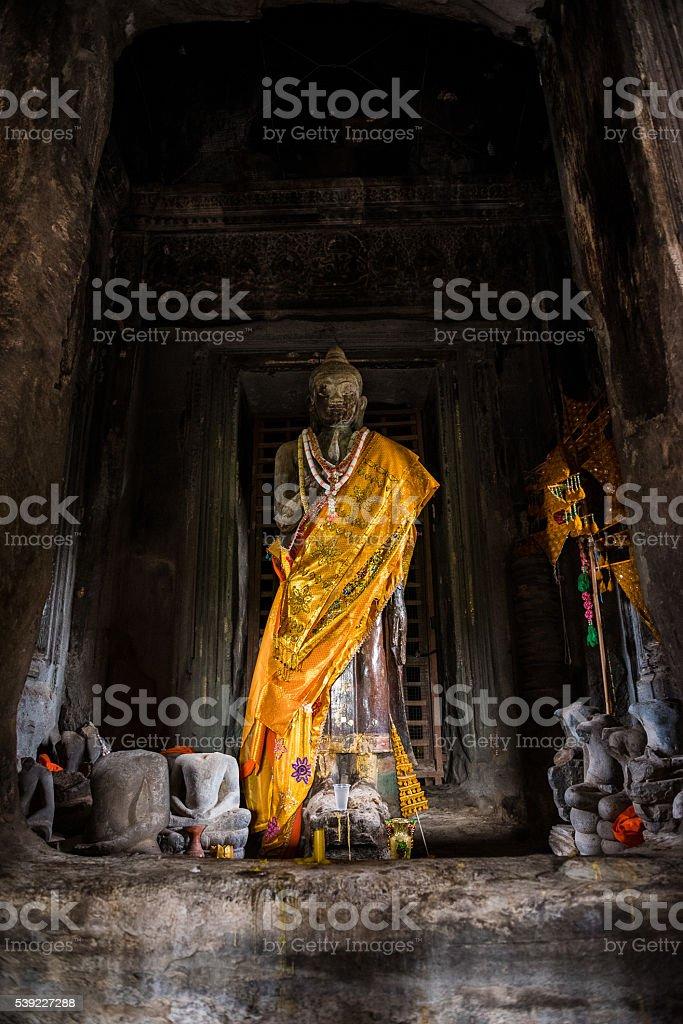 Buddha at Angkor Wat stock photo