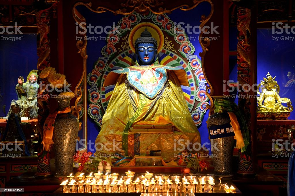 Buddha at Da Zhao Temple, Hohhot, Inner Mongolia, China stock photo
