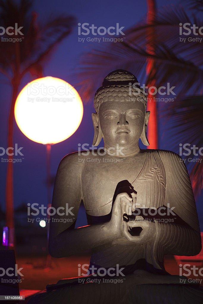 Buddha at night stock photo