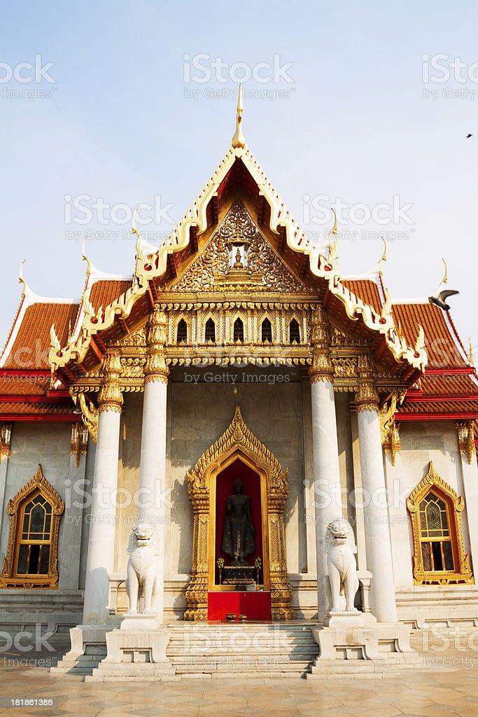 Buddha at Wat Benchamabophit stock photo