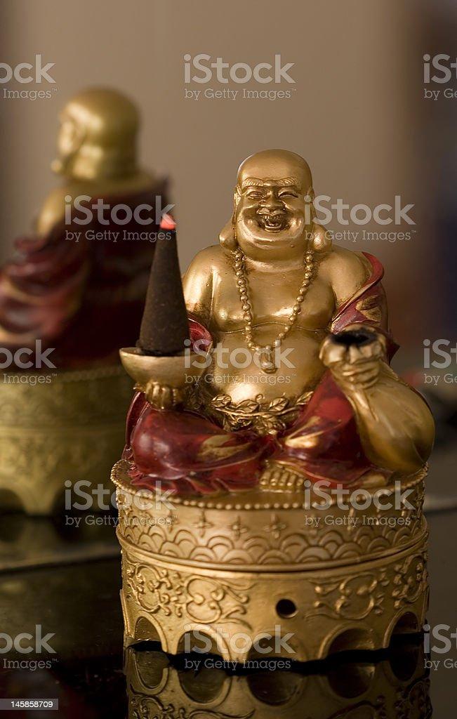 Buddha Burning Incense royalty-free stock photo