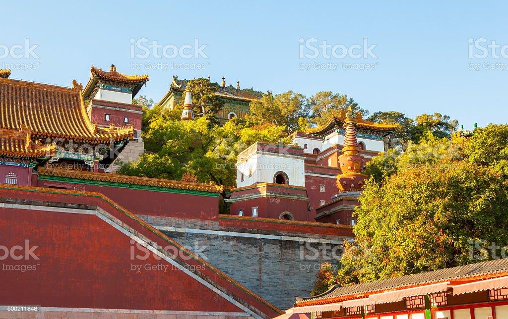 Buddha Confirming His Doctrine(Xiangyan Zongyin Zhi Ge) scene stock photo