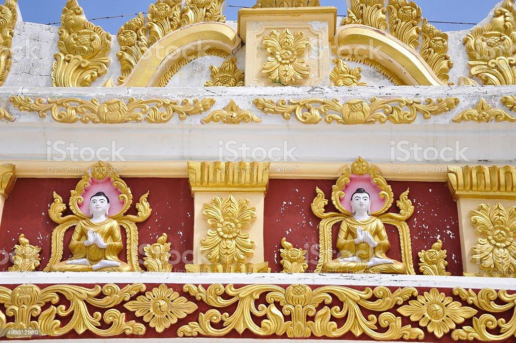 Buddha decorated on Mandalay Hill stock photo