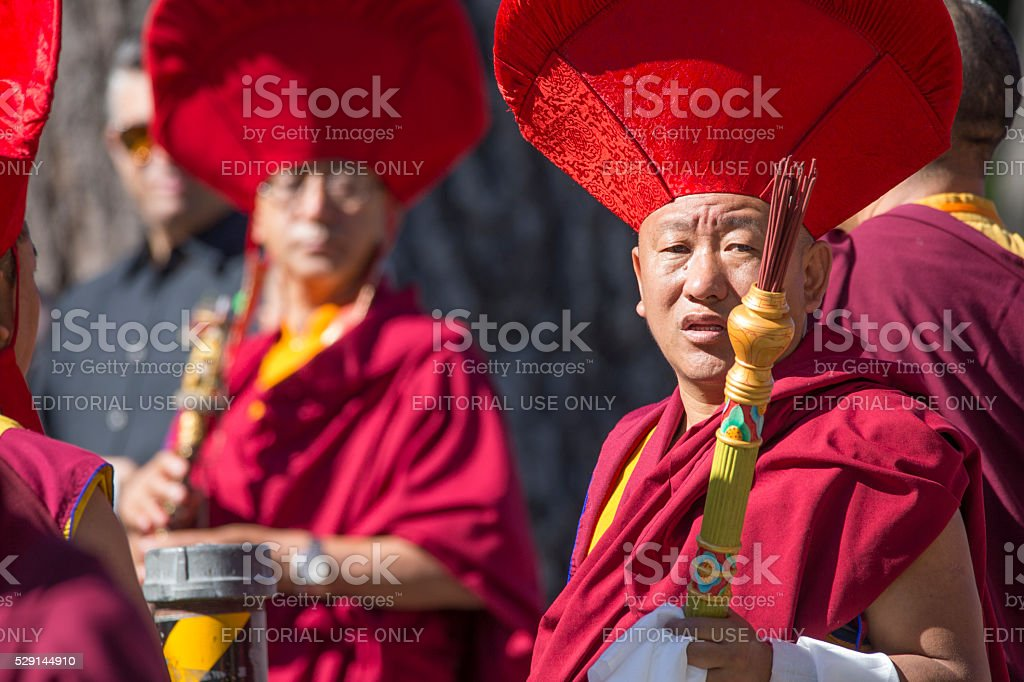 Buddha Event in Golden Gate Park, San Francisco stock photo