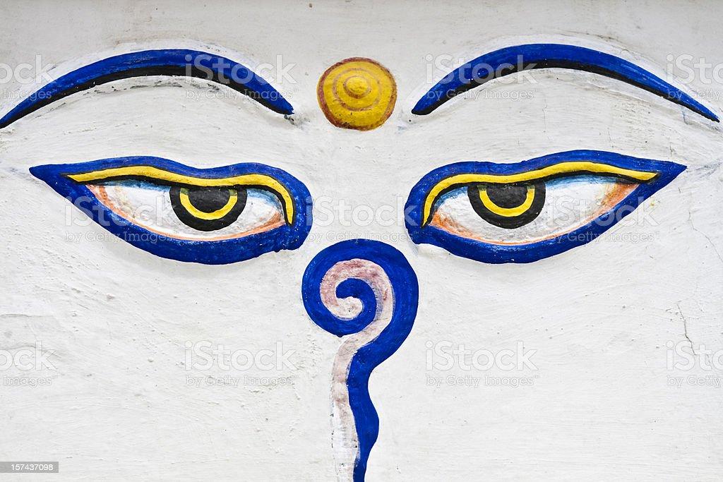 Buddha Eyes stock photo