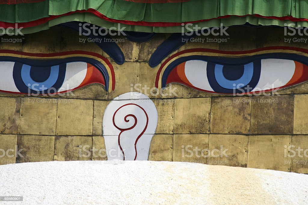 Buddha eyes royalty-free stock photo