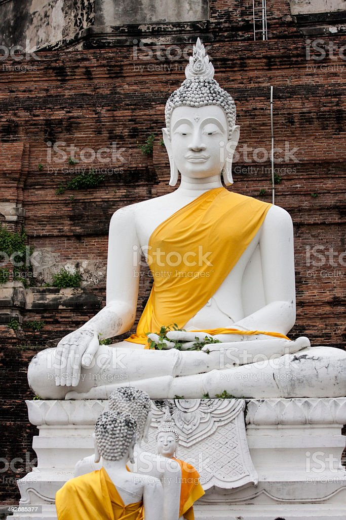 Buddha Face Grunge Background stock photo