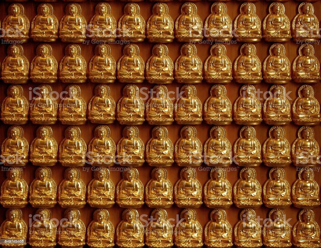 buddha face in thailand stock photo