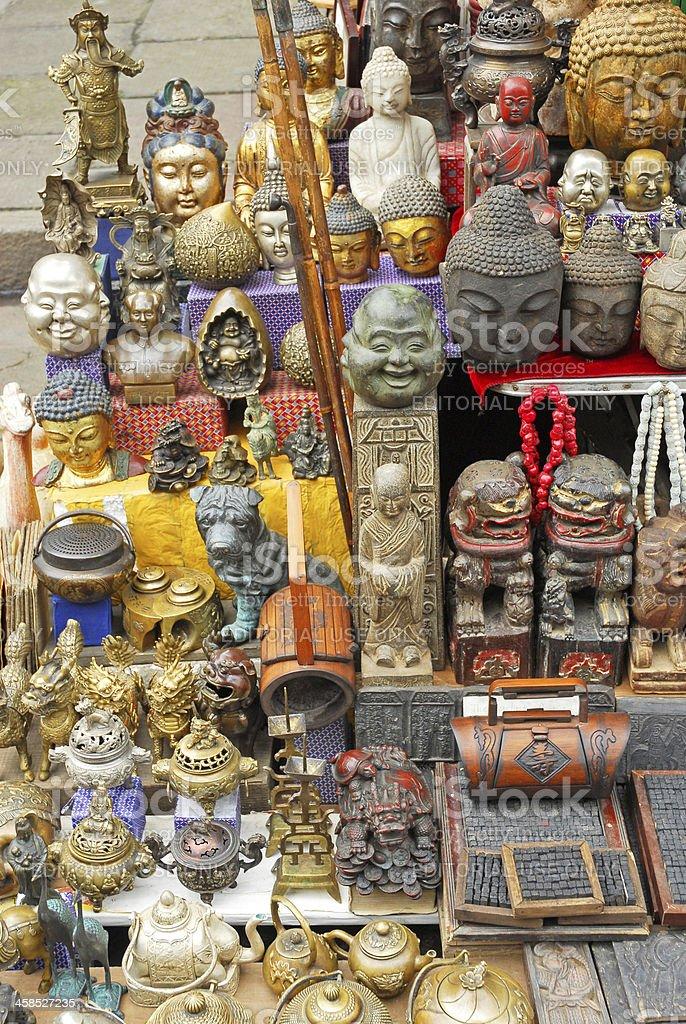 Buddha figures stock photo