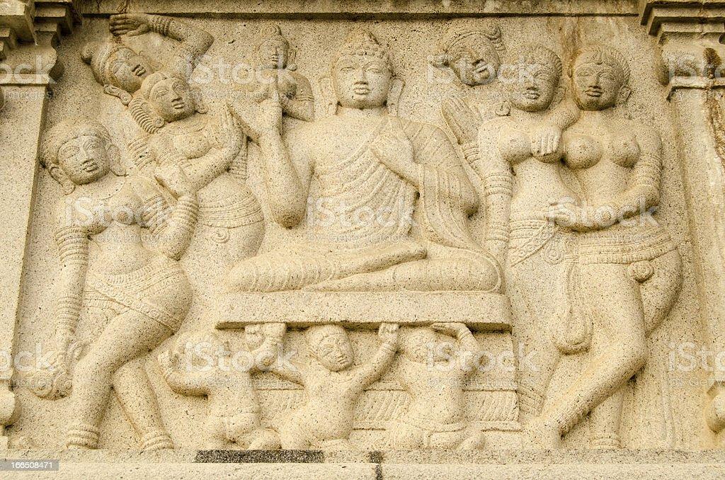 Buddha Frieze, Hyderabad stock photo