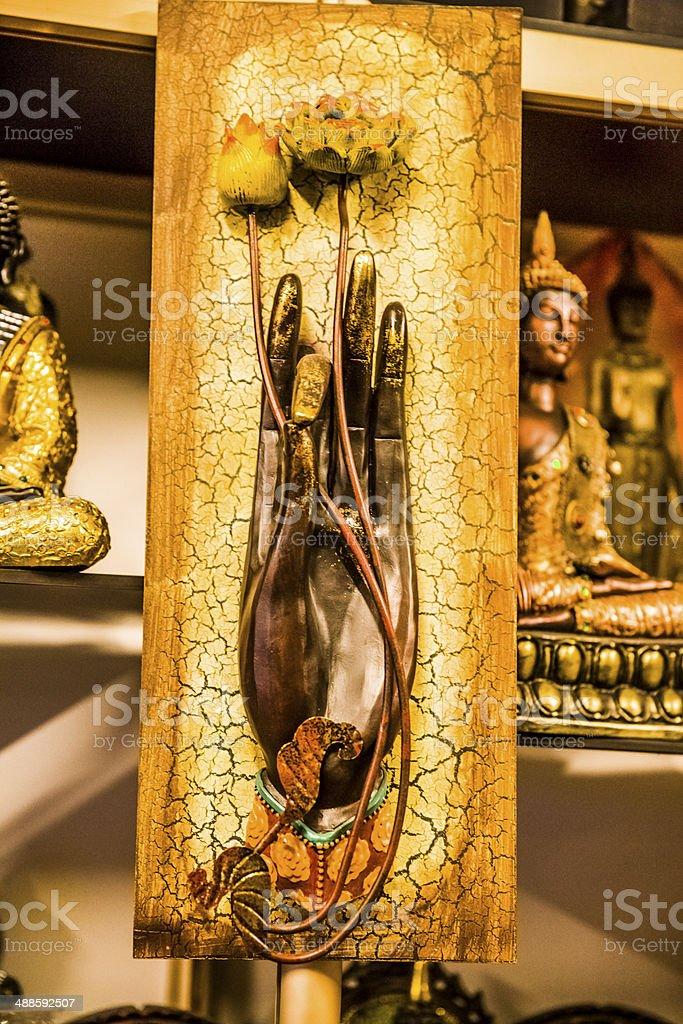 Buddha gesture stock photo