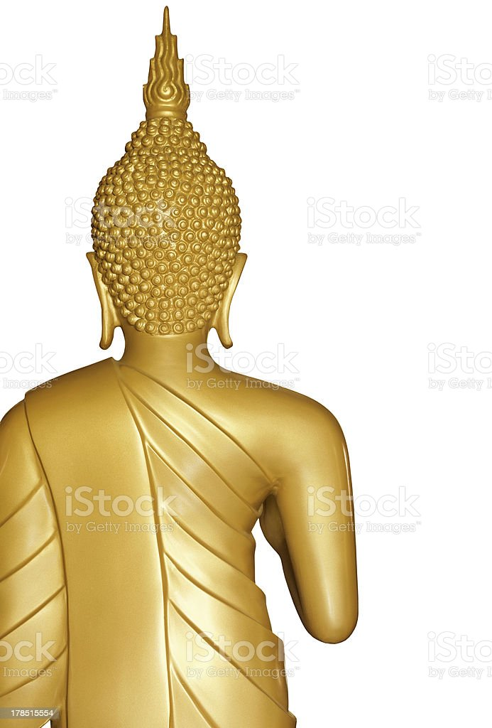 Buddha golden statue on white royalty-free stock photo