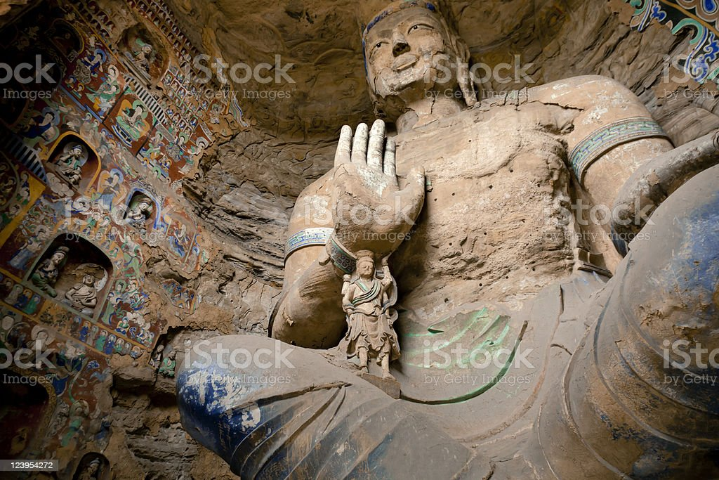 Buddha grottoes royalty-free stock photo