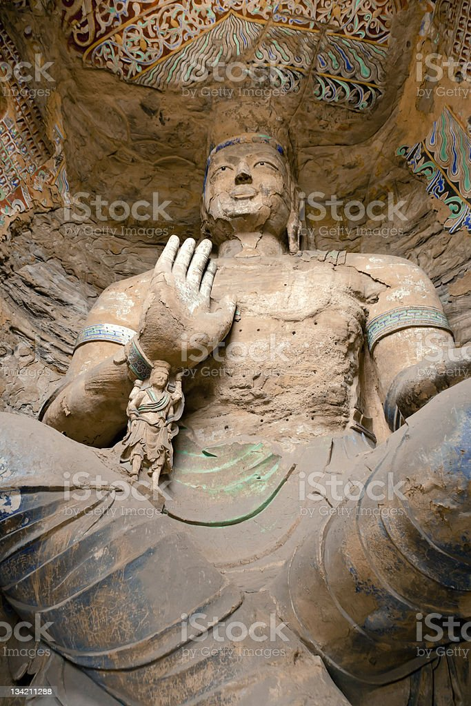 Buddha grottoes stock photo